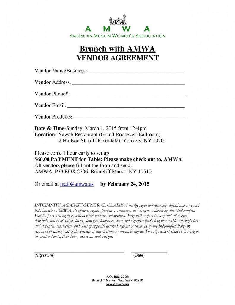 AMWA Brunch 1-Mar-2015 Vendor Agreement