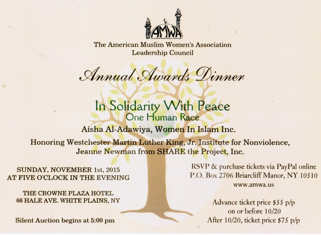AMWA's Awards Dinner 11.1.15